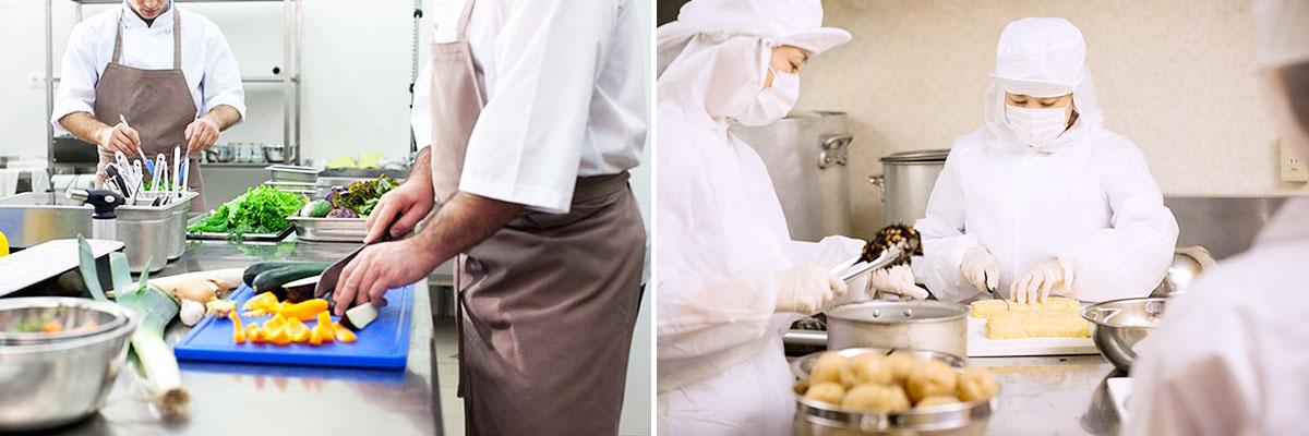 食品の製造、加工、調理、販売